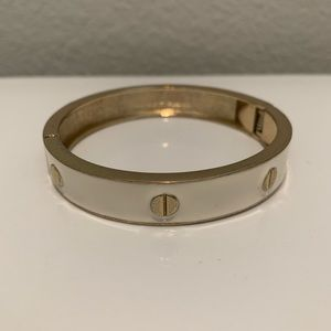 Cream and gold bangle from Macy's